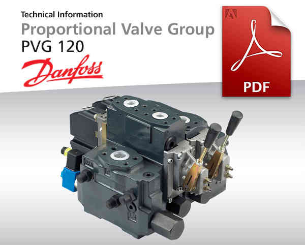 Proportional Valve-Group von Danfoss, PVG 120, Pdf-Dokument zum Download